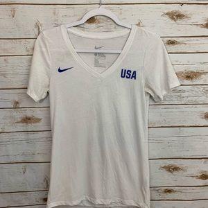 Nike Team USA Match Tri-Blend V-Neck T-Shi…